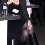 Zwarte laarzen op zakelijk evenement in Delft (NL)