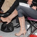 Beige laarzen tijdens zakelijk evenement in Bergschenhoek