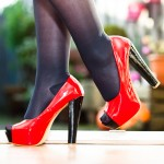 Model Charlene. Passion for red #pumps and other #highheels