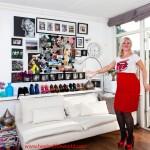 peeptoe pumps, high heels, heels, passion, model, red, stockings,